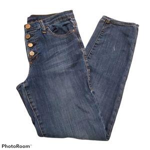 Rock & Republic Berlin medium wash jeans size 10